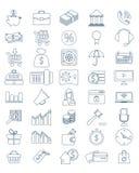 Bedrijfs en financiënpictogrammen Stock Afbeelding