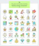 Bedrijfs en financiënpictogrammen Vector Illustratie