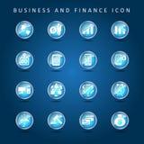 Bedrijfs en Financiënreeks van pictogramvector Royalty-vrije Stock Foto