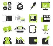Bedrijfs en Financiënwebpictogrammen Royalty-vrije Stock Afbeeldingen