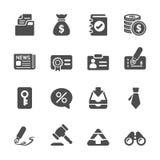 Bedrijfs en financiënpictogramreeks, vectoreps10 Stock Afbeeldingen