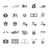 Bedrijfs en geldpictogram Stock Afbeeldingen
