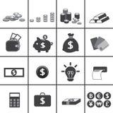 Bedrijfs en geldpictogram Royalty-vrije Stock Fotografie