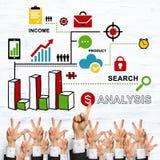 Bedrijfs en groepswerkconcept Royalty-vrije Stock Afbeelding