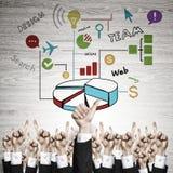 Bedrijfs en groepswerkconcept Stock Afbeeldingen