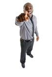 Bedrijfs en mens die lacht richt Stock Foto's