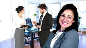 Bedrijfs en mensen die werken stellen stock video