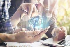 Bedrijfs en mobiliteits communicatie concept Royalty-vrije Stock Afbeelding