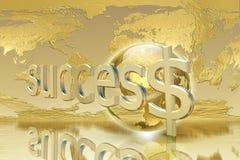 Bedrijfs en succesconcept Stock Foto's