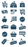 Bedrijfs en verkooppictogrammen Royalty-vrije Stock Fotografie