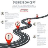 Bedrijfs en Vooruitgangsconcept vector illustratie