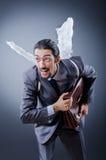 Bedrijfs engel met geld Royalty-vrije Stock Fotografie