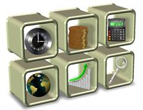 Bedrijfs essentiële elementen Stock Fotografie