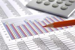 Bedrijfs financiële berekening stock foto's