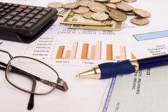 Bedrijfs financiën Stock Foto's