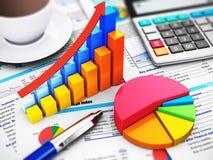 Bedrijfs, financiën en boekhoudingsconcept Royalty-vrije Stock Foto