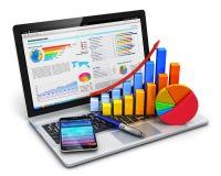 Bedrijfs, financiën en boekhoudingsconcept Stock Afbeelding