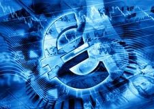 Bedrijfs financiënachtergrond Stock Foto