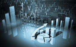 Bedrijfs financiëngrafiek, diagram, grafische staaf, stock illustratie