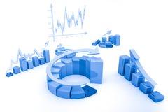 Bedrijfs financiëngrafiek, grafisch diagram, Royalty-vrije Stock Fotografie