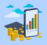 Bedrijfs financieel infographic element royalty-vrije illustratie