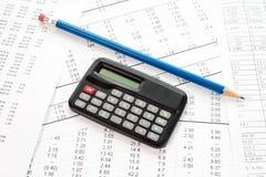 Bedrijfs financieel rapport Stock Foto