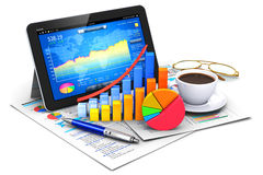 Bedrijfs, financiën en boekhoudingsconcept Royalty-vrije Stock Fotografie