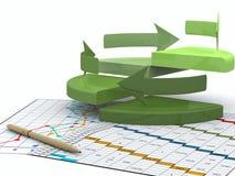 Bedrijfs financiëngrafiek, diagram, grafische staaf, Royalty-vrije Stock Afbeeldingen