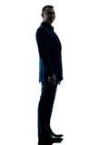 Bedrijfs geïsoleerd mensen bevindend silhouet stock fotografie