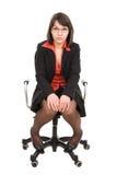 Bedrijfs geïsoleerde vrouw Stock Fotografie