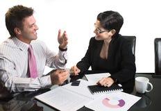 Bedrijfs geïsoleerdee onderhandeling - Royalty-vrije Stock Afbeelding