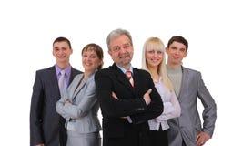 Bedrijfs geïsoleerdeg mens en zijn team Royalty-vrije Stock Foto
