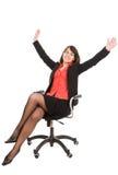Bedrijfs geïsoleerdev vrouw Stock Afbeeldingen