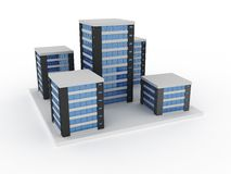 Bedrijfs gebouwen stock illustratie