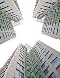 Bedrijfs gebouwen op wit Royalty-vrije Stock Afbeelding