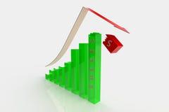 Bedrijfs gebroken Grafiek Stock Foto