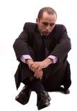 Bedrijfs gedeprimeerde mens Stock Afbeeldingen