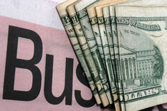 Bedrijfs geld Royalty-vrije Stock Foto
