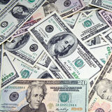 Bedrijfs geldachtergrond Stock Afbeelding