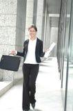 Bedrijfs gelukkige vrouw Royalty-vrije Stock Foto's