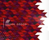 Bedrijfs geometrische vormachtergrond - driehoeken Royalty-vrije Stock Foto