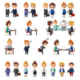 Bedrijfs geplaatste bureaumensen royalty-vrije illustratie
