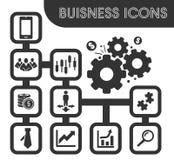 Bedrijfs geplaatste pictogrammen Royalty-vrije Stock Foto