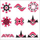 Bedrijfs geplaatste pictogrammen Royalty-vrije Stock Foto's