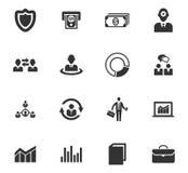 Bedrijfs geplaatste pictogrammen Stock Fotografie