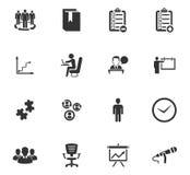 Bedrijfs geplaatste pictogrammen Royalty-vrije Stock Fotografie