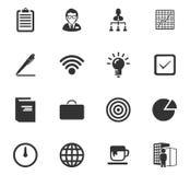 Bedrijfs geplaatste pictogrammen Stock Foto's