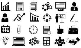 Bedrijfs geplaatste pictogrammen Royalty-vrije Stock Afbeeldingen