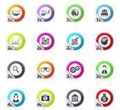 Bedrijfs geplaatste pictogrammen Royalty-vrije Stock Afbeelding