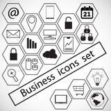 Bedrijfs geplaatste pictogrammen stock afbeeldingen